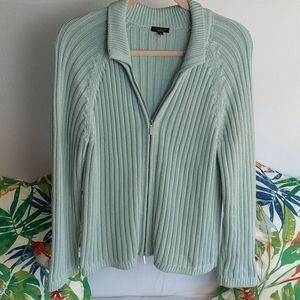 Talbots size large blue sweater cardigan